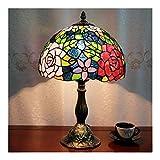 YIBANG-light Hermosa luz, Lámpara de Escritorio Viva, lámpara de Mesa Estilo Tiffany for la decoración casera Lámpara casera