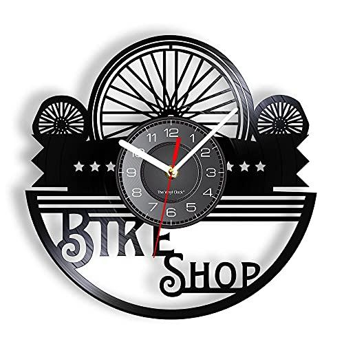 LED 7 Colores Relojes de Pared Neumáticos de Bicicleta Vinilo LP Registro Reparación de Bicicletas Tienda de Bicicletas Decoratve Reloj Corte por láser Artesanía Arte Decoración con luz