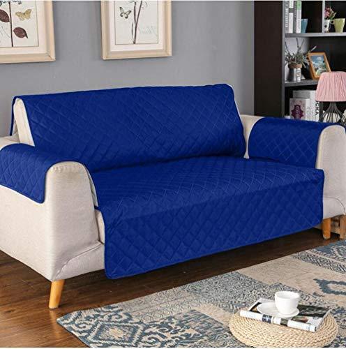 Funda de Fofá Elástica Antiácaros/Antiarrugas,Protector de sofá impermeable, de funda de sofá para mascotas / perros, funda de muebles antideslizante para sofá, suave y gruesa-Azul marino 08_130x