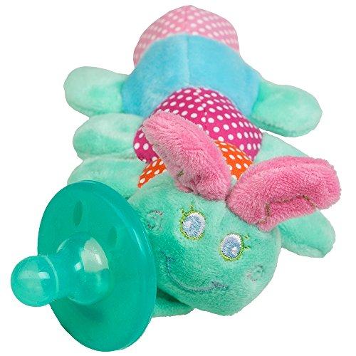 Kuscheltier Schnuller mit 7 verschiedenen Designs für Neugeborene Babys - Plüschtier Schnuller ab 0 Monate (Raupe)