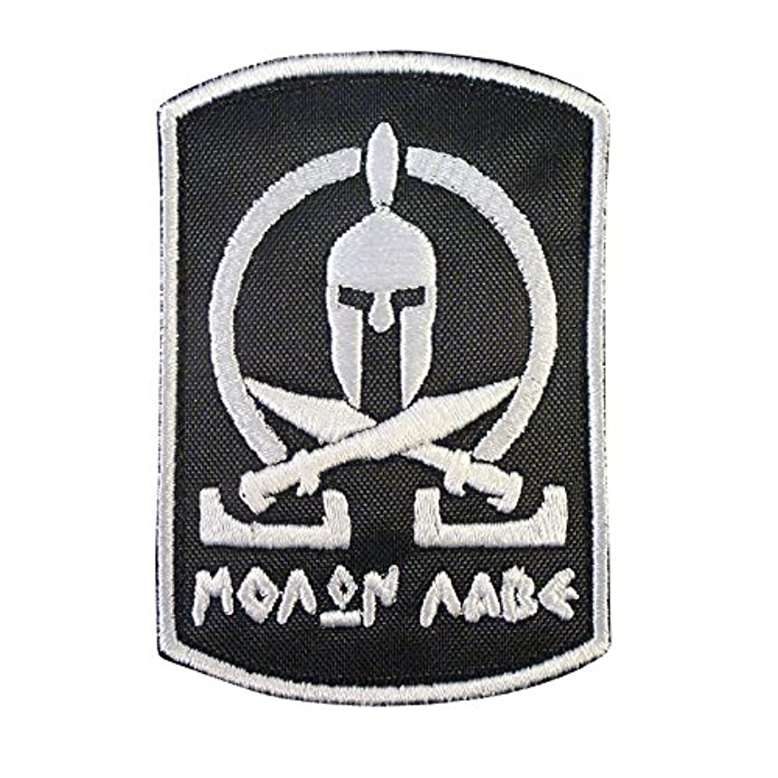 LEGEEON Spartan Molon Labe Tactical Morale Army Milspec Embroidered Touch Fastener Patch