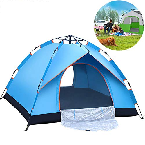 Automatic Pop Up Outdoor Family Camping Tents 2-3 Person Seasons Tourist Tent Anti-Mosquito Nsect-Proof Ventilation Waterproof Camping Tent Outdoor Festivals, Car TripGreen