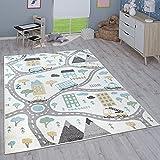 Paco Home Kinderteppich Teppich Kinderzimmer Mädchen Jungs Verschiedene Motive Und Größen, Grösse:160x220 cm, Farbe:Creme 3