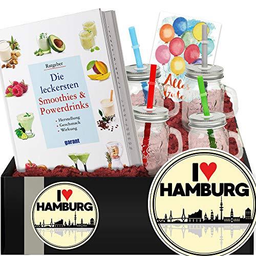 I love Hamburg - Geschenkidee Smoothies und Shakes - Geschenk Umzug Hamburg