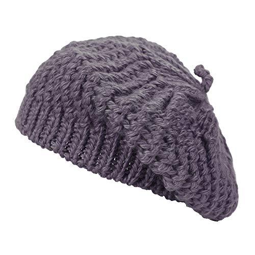 ZLYC damski przewód dzianiny berety pleciona workowata czapka zimowa wełniana ciepła czapka