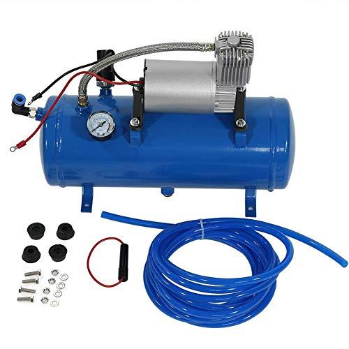 Compressore Aria Portatile 12V DC, Mini Pompa Gonfiatore Portatile per Compressore D'Aria 150 PSI con Flusso D'Aria Più Ampio e Luce a Led, Protezione Troppo Gonfiata
