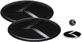 3D K Logo Emblem Black & Black Edition Set 4pc Front + Rear + Steering Wheel + Mini Sticker (Fit: KIA 2017+ All New Sportage QL)