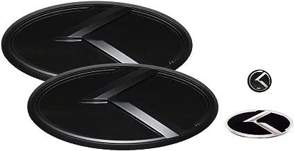 3D K Logo Emblem Black & Black Edition Set 4pc Front + Rear + Steering Wheel + Mini Sticker (Fit: KIA 2009-2013 Forte Koup , Cerato Koup)
