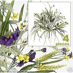 Silk Flower Arrangements Sejahtera Group 56 Stem Pansy Astilbe Grass Artificial Silk Flower Grass 47UY