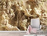 Fototapete 3D Effekt Relief Griechische Zeichen Tapeten Vliestapete 3D Tapete Moderne Wandbilder Wanddeko