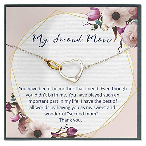 Grace of Pearl Second Mom Quotes Jewelry My Other Mother Stepmom Gifts Stepmother Mother in Law Gifts Mother Like