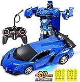 JY&WIN Coche RC para niños Transform Car Robot, Deformación Modelo de Coche Juguete 1:18 Transformación Vehículo de Control Remoto para niños 2 Juegos de baterías para 40 Minutos de Juego