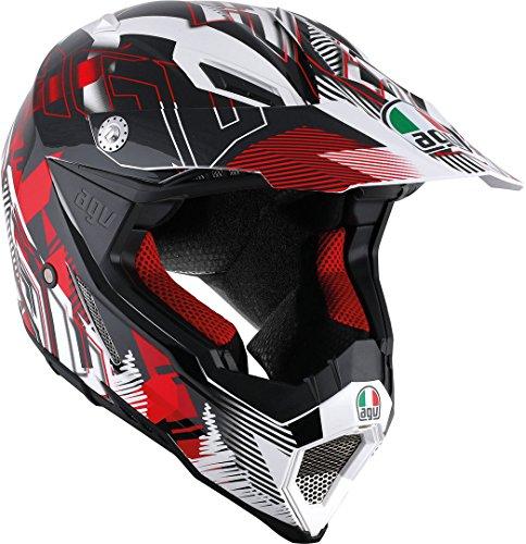 AGV Helmets Ax8 Evo E2205 Multi,Nofoot Blanc/Rouge,XXXL