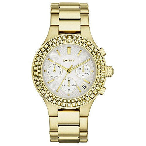 DKNY Chambers Gold-Tone Stainless Steel Chronograph Women's Watch #NY2259