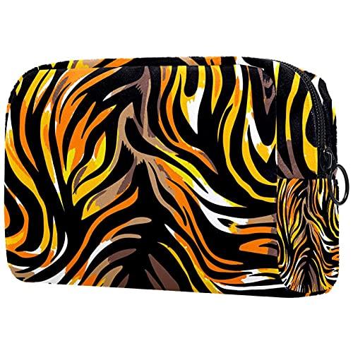 Simple perro hueso pata amor patrón multifuncional bolsa de almacenamiento cosmético para mujeres y niñas, lindo y portátil bolsa de aseo para viajes, Multicolor8, 18.5x7.5x13cm/7.3x3x5.1in, moderno