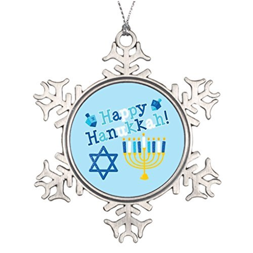 VinMea Snowflake Metal Ornament Personalised Christmas Tree Decoration Happy Hanukkah Snowflake Ornaments Canada