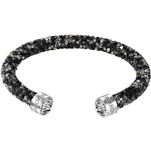 Swarovski Damen-Armreif Crystaldust Bracelet Edelstahl Kristall schwarz Rundschliff - 5250065