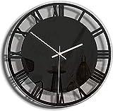 MLL Reloj de Pared silencioso, Moderno y Creativo Reloj de Pared acrílico con decoración, números Romanos Reloj de Cuarzo silencioso, Utilizado en la Sala de Estar Familiar, Dormitorio, Oficina