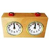 Nrpfell - Juego de descubrimientos de madera, temporizador, diseño de torneo de competición, juego de relojes, temporizador, regalo de liquidación, accesorios médicos para juegos de sociedad