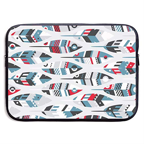 Waterproof Laptop Sleeve 13 inch, Cartoon Fish Feather Pattern Business Briefcase Protective Bag, Computer Case Cover for Ultrabook, MacBook Pro, MacBook Air, Asus, Samsung, Sony, Notebook