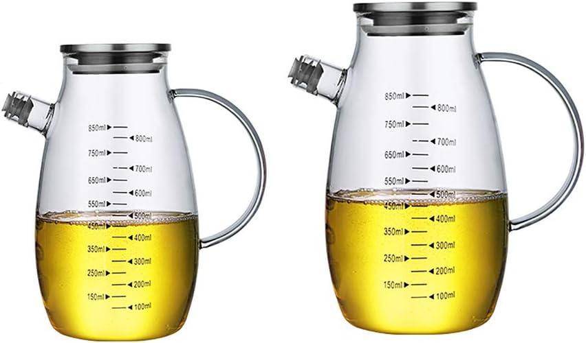 Max 54% OFF Modern Olive Oil Dispenser Bottle Set 2 Selling Vin Cooking Glass of