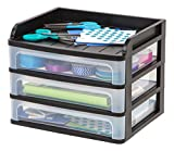IRIS USA, Inc. DDS-M3 Medium Desktop Drawer System, Black