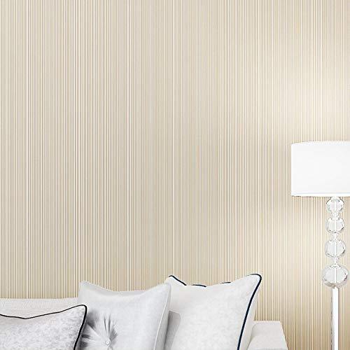 Niet-zelfklevende Milieubescherming behang Gestreept Plain behang Hotel Project behang Kleding Winkel Schoonheid Salon TV Achtergrond Romig-wit