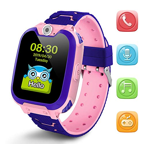Deyawe Kids Smartwatch Phone,Colorful Touch Screen Smartwatch with Camera Games Touch Screen SOS Call Voice Chatting Christmas Birthday Gift