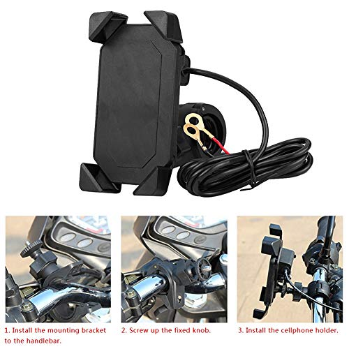 Seacanl Soporte de Carga para Motocicleta, Soporte Ajustable portátil para Motocicleta, para Viajes en Bicicleta en vehículos eléctricos