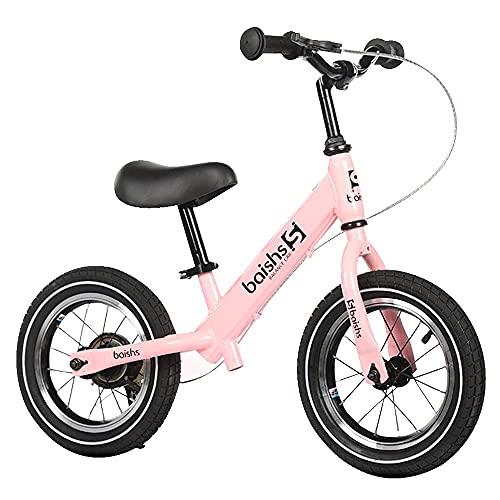Gymqian Bicicleta de Equilibrio sin Pedaleo de Acero Alto de Acero Aluminio Aleación de Aluminio Cuchillo de Aluminio Freno Neumático Neumático Ergonomía Cojín de Manillar sin Deslizamiento Y Resiste