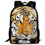 Power Tiger Face Animal Print Mochila para Adultos Mochila para portátil