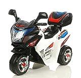 Toyas Kindermotorrad Elektromotorrad Kinder Polizei Motorrad mit Kofferraum Musik/Sound in Weiß (8309)