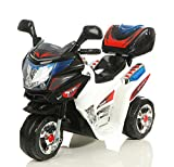 Toyas Kindermotorrad Elektromotorrad Kinder Polizei Motorrad mit Kofferraum Musik