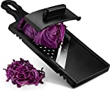 Gourmia GMS9340 Jumbo Mandoline Slicer and Grater, Cabbage Shredder– Eggplant and Cabbage Slicer with Hand Guard – Ultra Sharp Stainless Steel – Slicer and Cutter for Large Vegetables - BPA Free