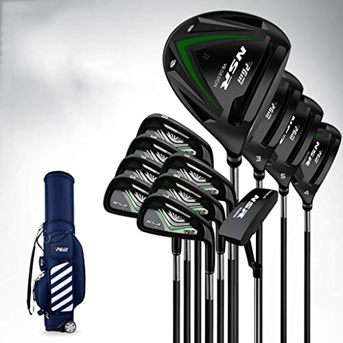 12 Stuks Heren Compleet Golf Club Pakket Set,Steel Golf Club Set Super High Rebound, Makkelijk Te Hit Golf Club