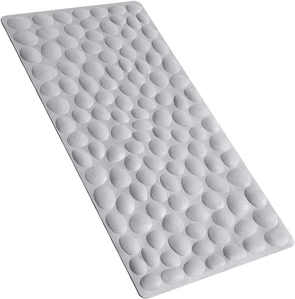 OTHWAY Non Slip Bathtub Mat Soft Rubber Bathroom Bathmat With Strong Suction Cups Grey