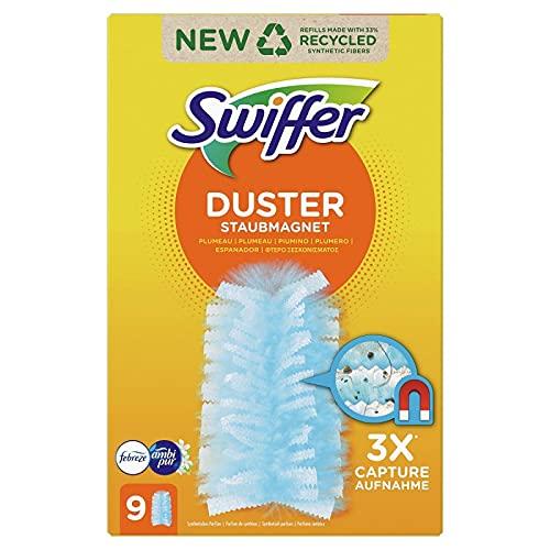 Swiffer Atrape & Retiene, aroma Febreze recambios para eliminar el polvo X9