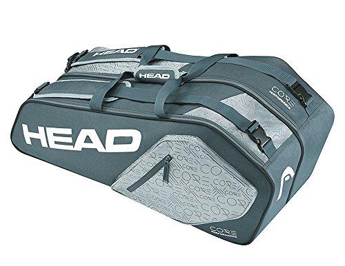 HEAD Core 6R Kombo-Tennisschläger-Tasche, für bis zu 6 Schläger, Unisex, Core 6R Combo, Anthrazit/Grau