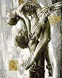 Pintura Por Números Pareja De Ballet Gris Por Números Para Adultos Y Niños Con Pinceles Y Acrílica Kit De Pintura Por Números Regalos 40x50cm