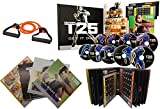 MMJY Focus T25 Shaun T DVD Videos, Alpha + Beta Workout Exercise +15LB Elastic Band,25 Minutes Workouts Fitnes Program
