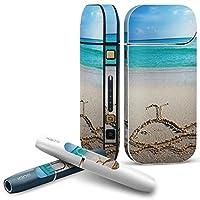 IQOS 2.4 plus 専用スキンシール COMPLETE アイコス 全面セット サイド ボタン デコ 写真・風景 砂浜 クジラ 海 001562