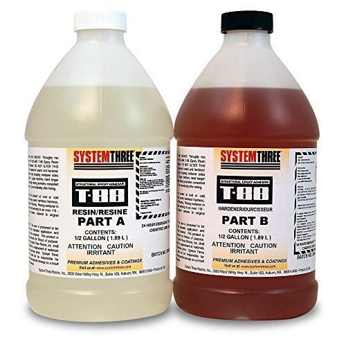 System Three 1100K24 T-88 Kit, 1 gal Bottle, Amber