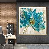 Wfmhra Dekoration im nordischen Stil mit abstrakten grünen Blumen in voller Blüte, verwendet für...