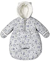 London Fog Newborn Infant Baby Girl Boy Puffer Carbag Pram Bag Snowsuit Bunting - Grey (0/6 Months)