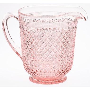 Pitcher - Addison Pattern - Mosser Glass - American Made (Rose Pink)