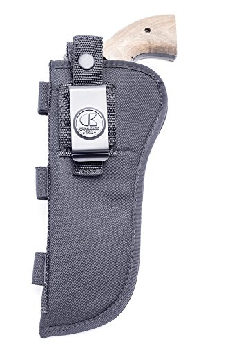 OUTBAGS USA NSC10 Nylon OWB Outside Pants Carry Holster w/ Ammo Loops. for Standard Size Revolvers w/ 6 inch Barrel. Family Owned & Operated. Made in USA