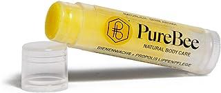 Lippenbalsam mit Bienenwachs & Propolis Ohne Aroma | Natürliche Lippenpflege handgemacht in Baden-Württemberg | Mit Jojoba-, Avocado- & Aprikosenkernöl | PureBee Ohne Aroma, 1 Stift