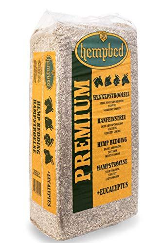 Hempbed Hanfeinstreu in Ballen, 15kg mit Eukalyptusöl