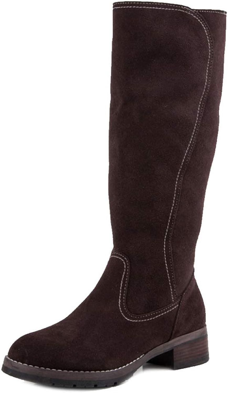 PLNXDM Frauen Stiefelie Classics Schneestiefel Schnalle Warme Schuhe Pelz Martin Stiefel