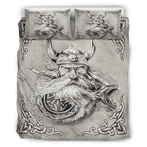 O3XEQ-8 Set of 3 Western Style Duvet Covers - Soft and Comfortable Bedding Set White 229 x 229 cm